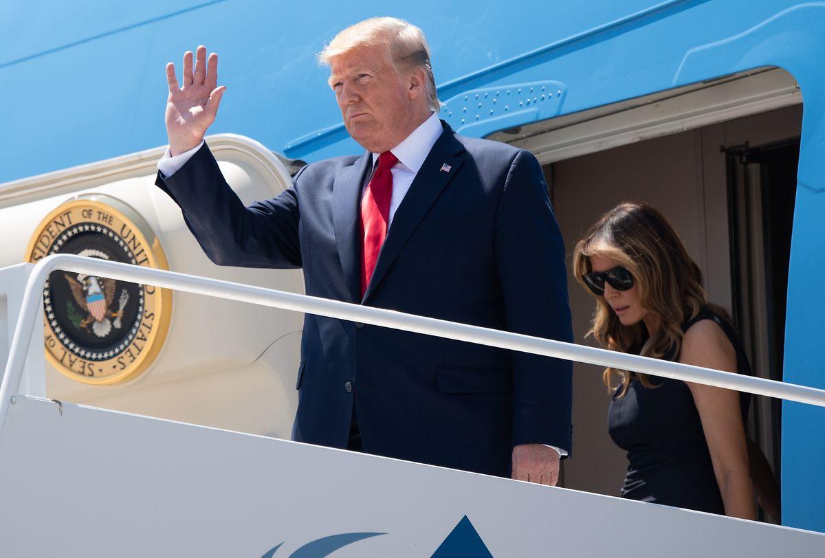Donald und Melania Trump bei ihrer Ankunft in El Paso.