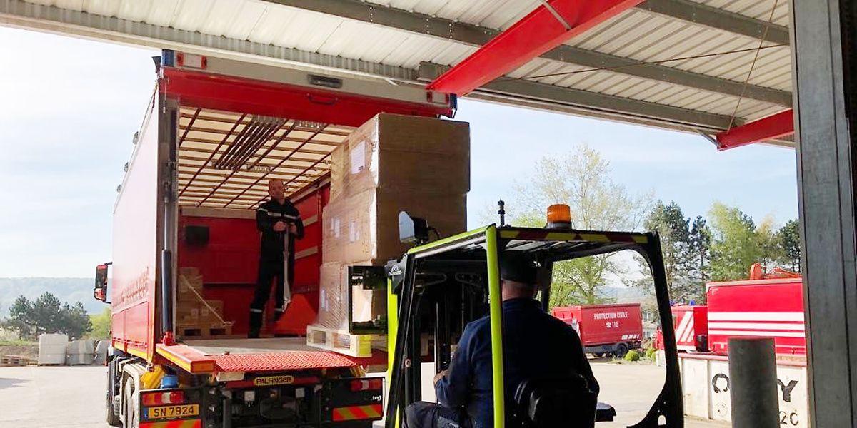 In den zwei Logistikzentren der CGDIS läuft die Verteilung bereits auf Hochtouren.