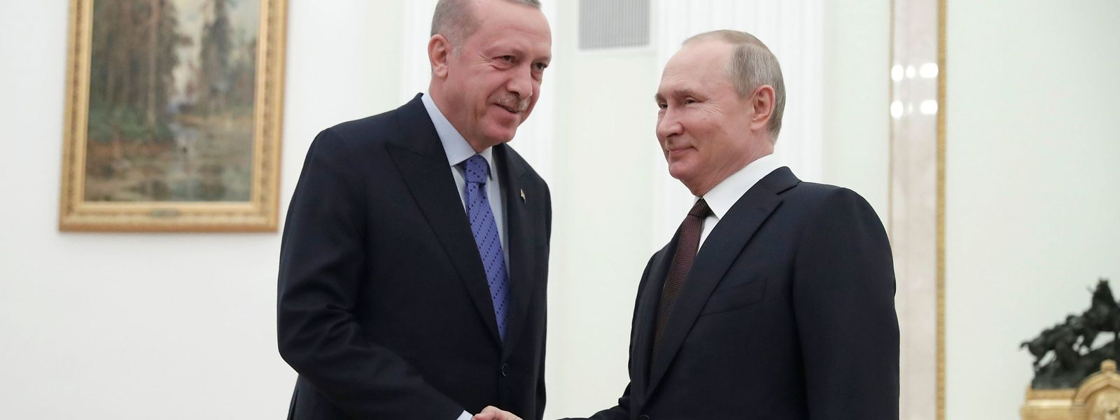 Putin nach seinem Treffen mit Erdogan.