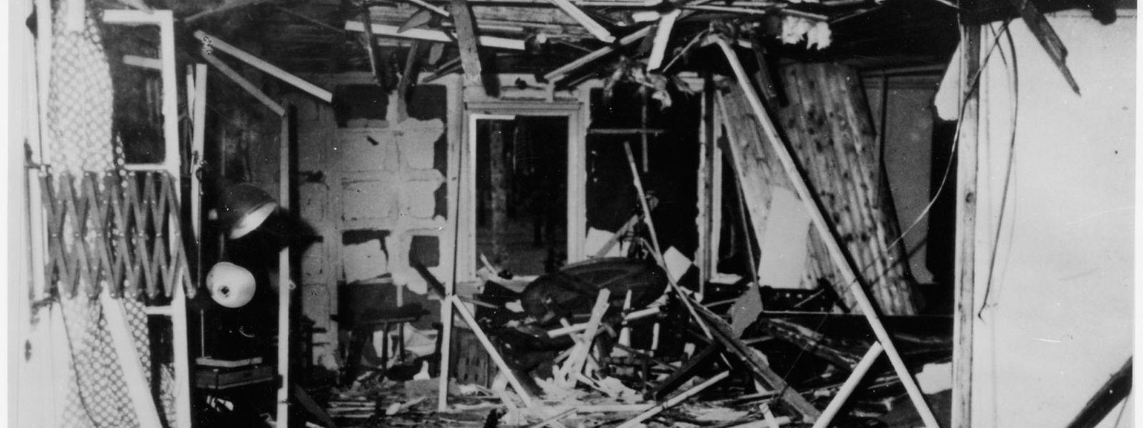 O estado em que ficou o quartel-general - conhecido como Toca do Lobo - de Hitler, em  Rastenburg, depois do atentado de 20 de julho de 1944.