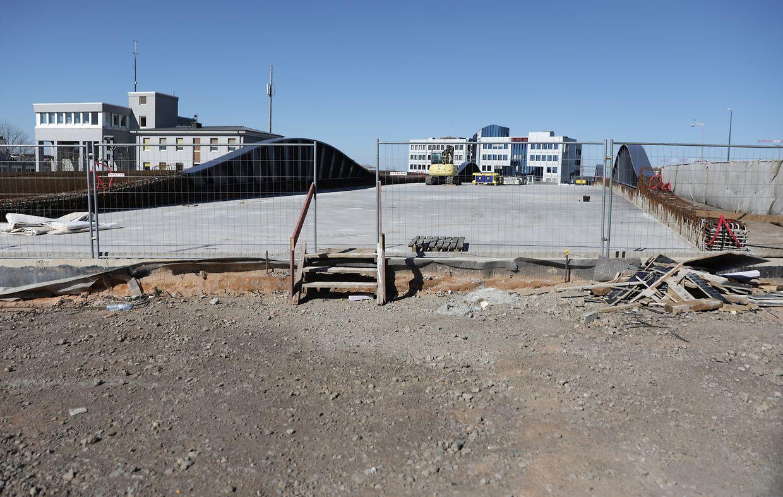 Comme partout ailleurs au pays, le chantier du pont Buchler à Luxembourg-Ville est figé