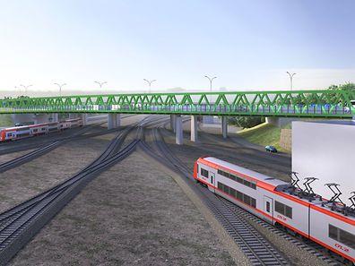 L''aménagement des infrastructures du centre logistique de l''Eurohub Sud se poursuit avec le lançage d''un viaduc de 185 mètres