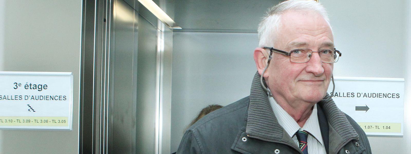 Charles Hoffmann 2013 als Zeuge im Bommeleeër-Prozess.