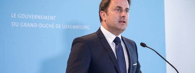 """""""Nous avons pris des décisions importantes pour le Luxembourg"""", a déclaré samedi le Premier ministre Xavier Bettel lors d'une conférence de presse."""