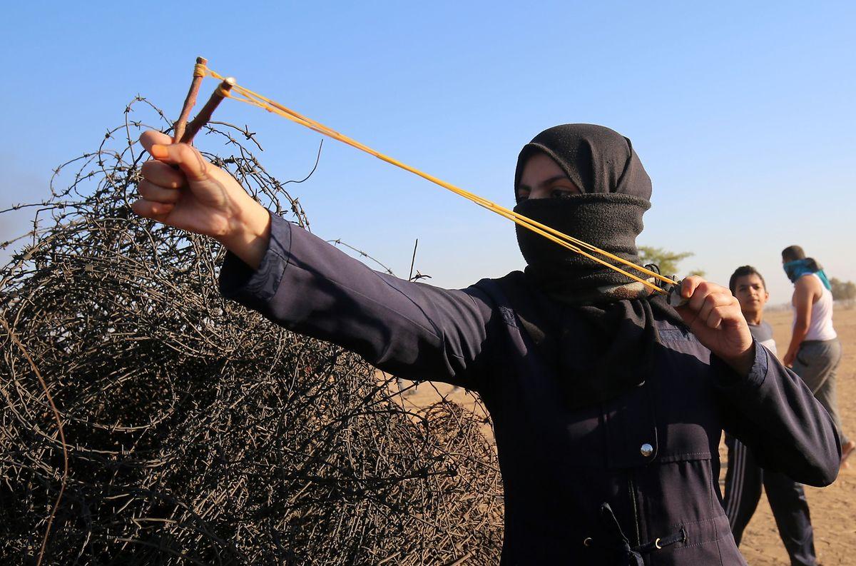 An der Grenze zum Gazastreifen gingen die Proteste weiter.