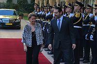 Maria Teresa accueillie par le Premier ministre libanais, Saad Hariri.