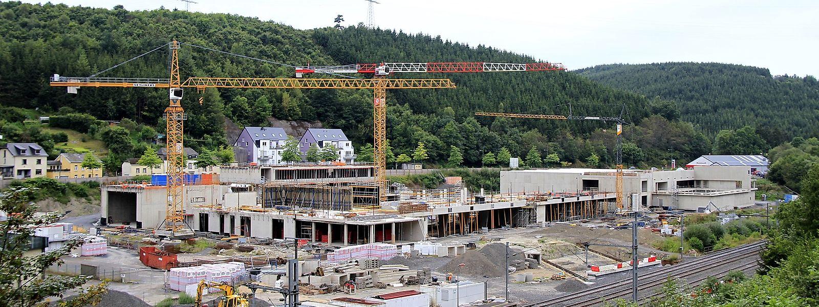 """In Clerf fiebert man jetzt schon der Eröffnung des neuen """"Lycée Edward Steichen"""" entgegen."""
