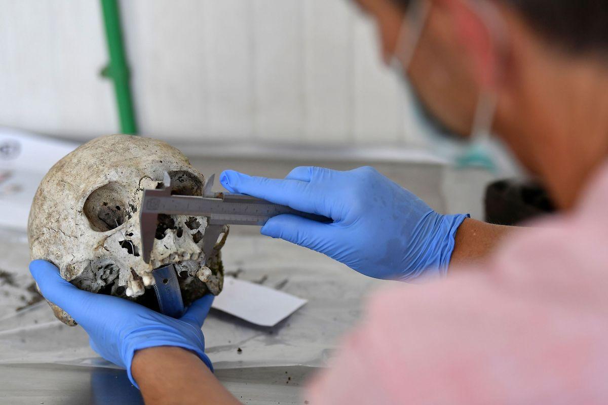 Auch 25 Jahre nach dem Massaker werden noch Leichenteile gefunden; durch aufwändige DNA-Analysen werden sie den Opfern zugeordnet.
