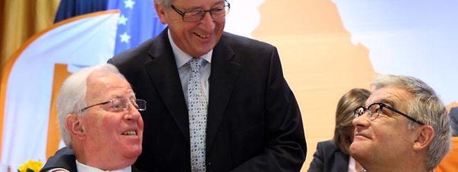 Kommissionspräsident Jean-Claude Juncker (Mitte), hier mit Ehrenstaatsminister Jacques Santer (links), vertritt in der Türkeifrage eine andere Meinung als Laurent Mosar (rechts) und die aktuelle CSV-Fürhung.