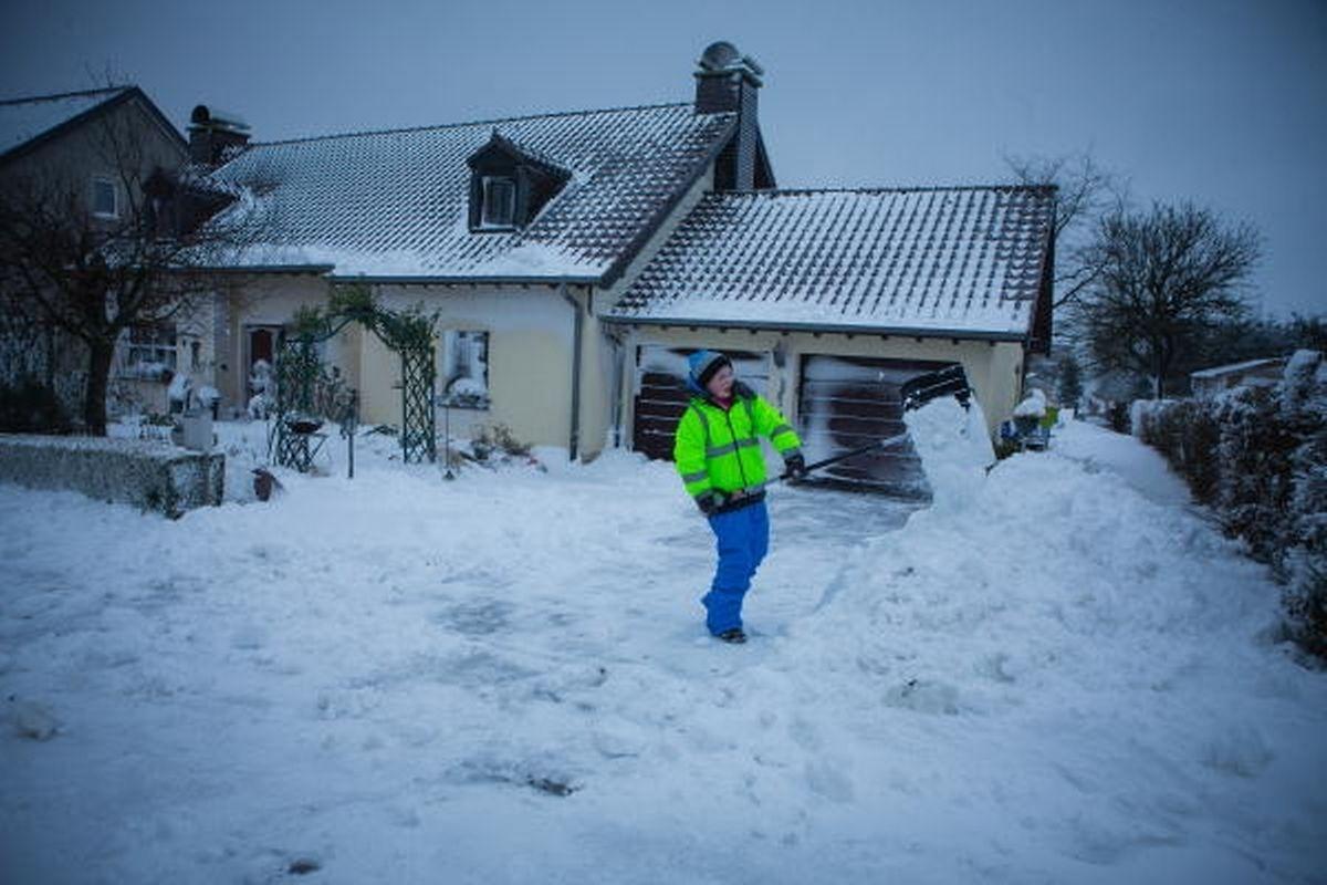 Im Januar war Schnee schaufeln angesagt.