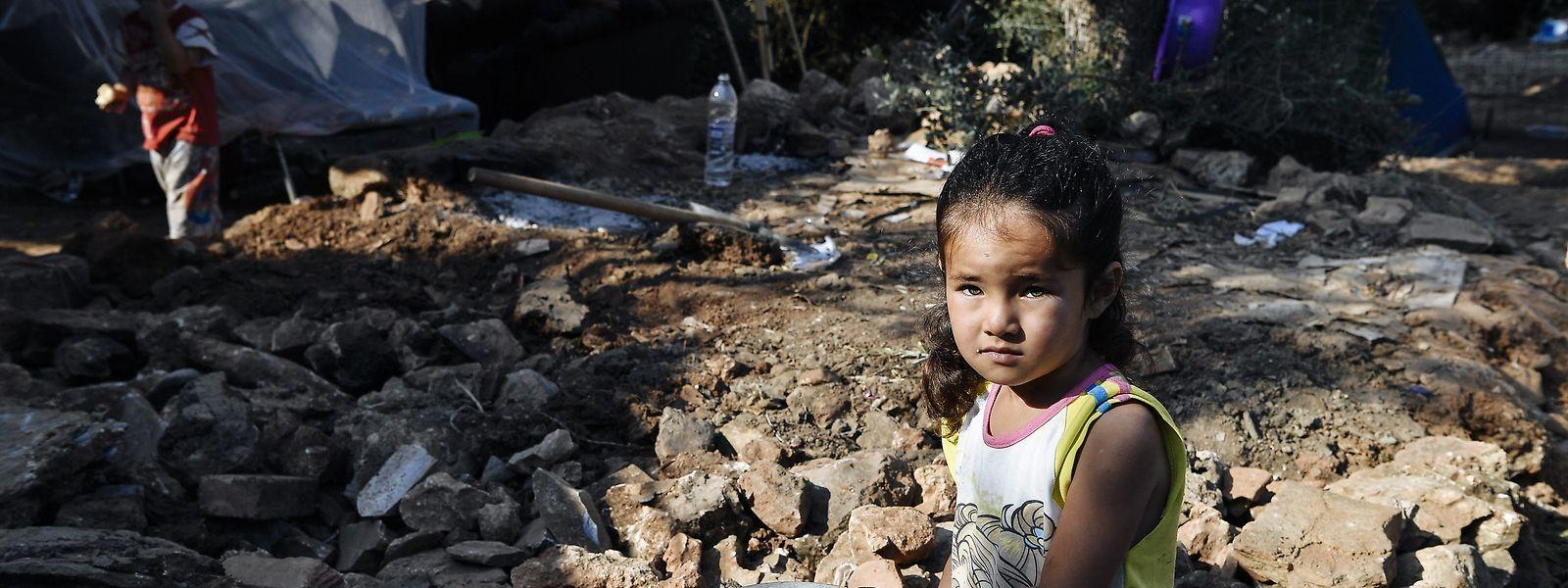 Im Flüchtlingslager Vathy auf der griechischen Insel Samos sind die Zustände laut NGO's katastrophal.