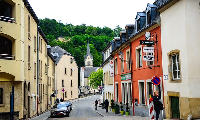 Idyllic streets of Luxembourg City centre