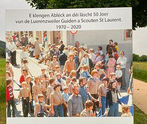 "EXPO "" 50 JOER GUIDEN A SCOUTEN ST LAURENT LUERENTZWEILER """