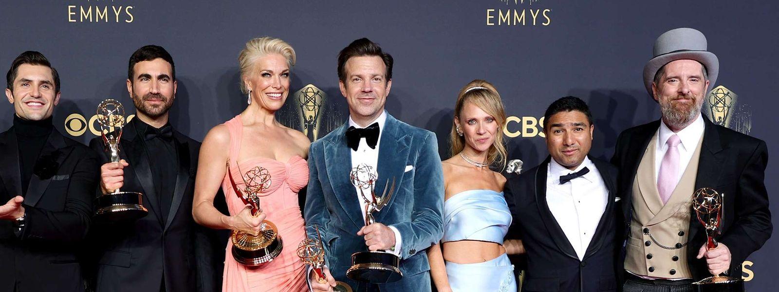 """L'équipe de """"Ted Lasso"""" (Apple TV) fait également partie des grands gagnants de la remise de récompenses."""