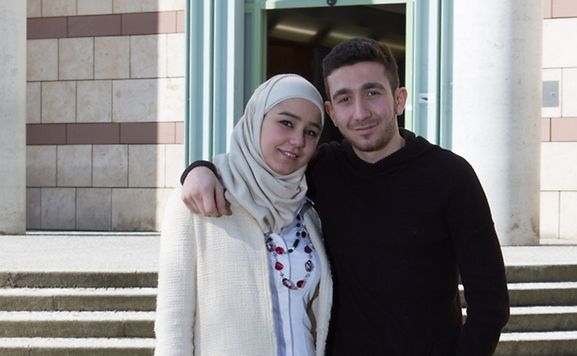 Siblings Reham and Ahyam Bawadukji fled from Syria to Luxembourg where they are studying as guest students