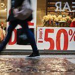 Inflação: Saldos de inverno fizeram cair os preços em janeiro