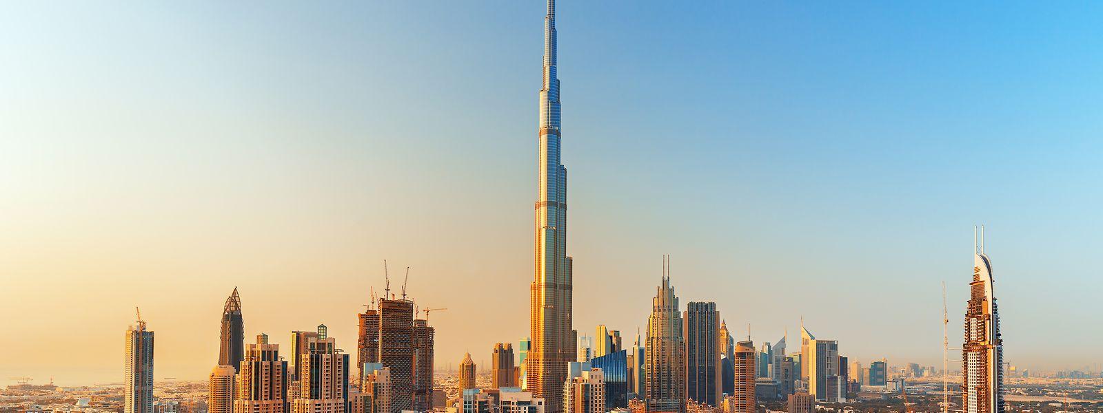 828 Meter hoch: ArcelorMittal hat zum Bau des weltweit für seine Größe bekannten Wolkenkratzers Burj Khalifa in Dubai mit 3000 Tonnen Stahl beigetragen.