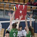 Betty Hoffmann (Walferdingen h.) / Volleyball, Challenge Cup Frauen, Walferdingen - BBSK Bursa / 12.12.2017 / Walferdingen / Foto: Christian Kemp