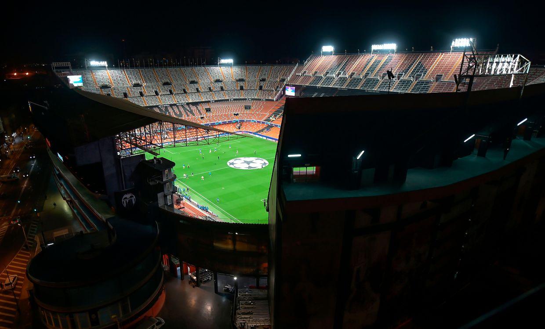 Etrange atmoshère au stade Mestalla. Privés de public,  Valencians et Bergamasques ont tout de même inscrit sept buts.