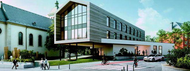 So soll das neue Gemeindehaus aussehen.