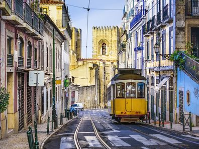 The streets of Lisbon.