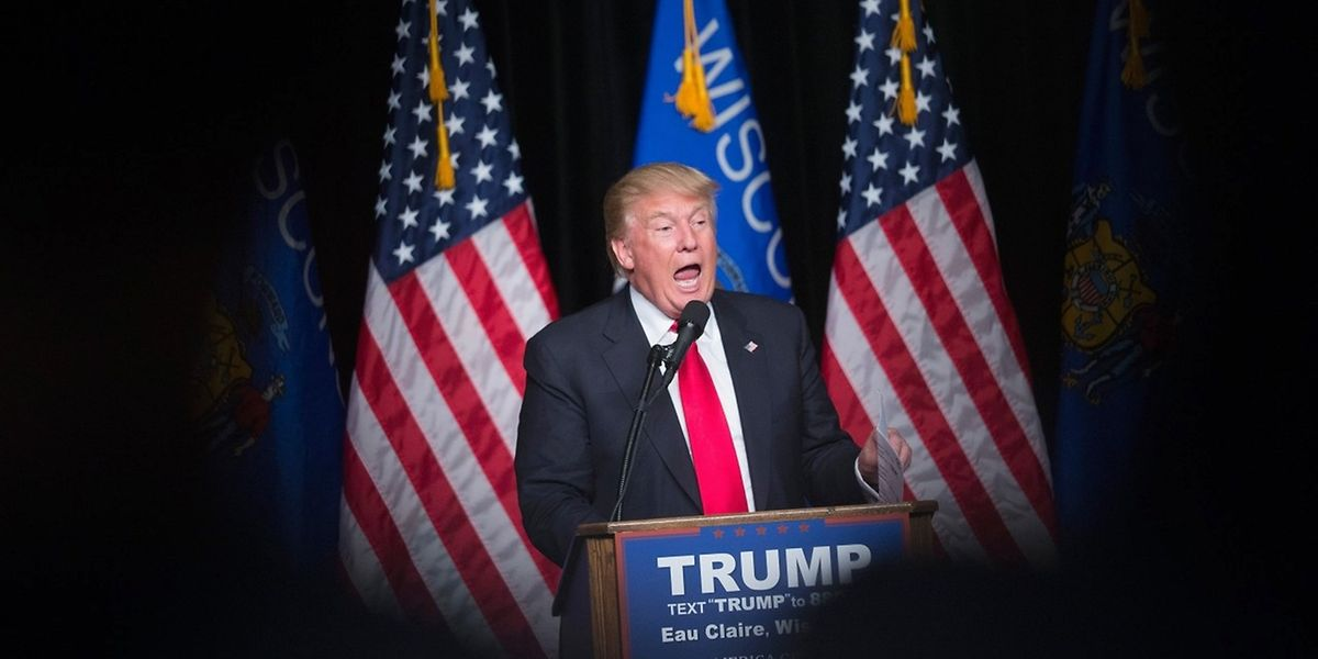 Donald Trump in Eau Claire im US-Staat Wisconsin.
