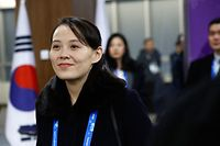 (FILES) In this file picture taken on February 9, 2018, Kim Yo Jong, sister of North Korea's leader Kim Jong Un, arrives for the opening ceremony of the Pyeongchang 2018 Winter Olympic Games at the Pyeongchang Stadium . - Sister, adviser, and now top official: the latest promotion of Kim Yo Jong, sibling to North Korea's leader, solidifies her position in Pyongyang's circles of power, analysts say. (Photo by PATRICK SEMANSKY / POOL / AFP) / TO GO WITH AFP STORY NKorea-politics-people-KimYoJong by Claire LEE and Sunghee Hwang