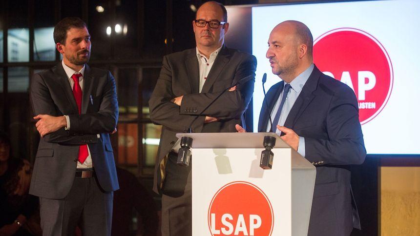 Vizepremier Etienne Schneider stellte seinen Genossen auf dem Neujahrsempfang der LSAP weitere sozialistische Akzente in der Regierung in Aussicht.