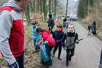 Lok , Beschbotzaktioun Differdange , Lancement Campagne contre les dechets sauvages, grosse Putzaktion Differdingen , Foto: Guy Jallay/Differdange
