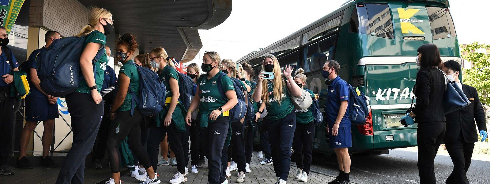 A Ota, les joueuses australiennes ne devront quitter leur hôtel que pour s'entraîner.