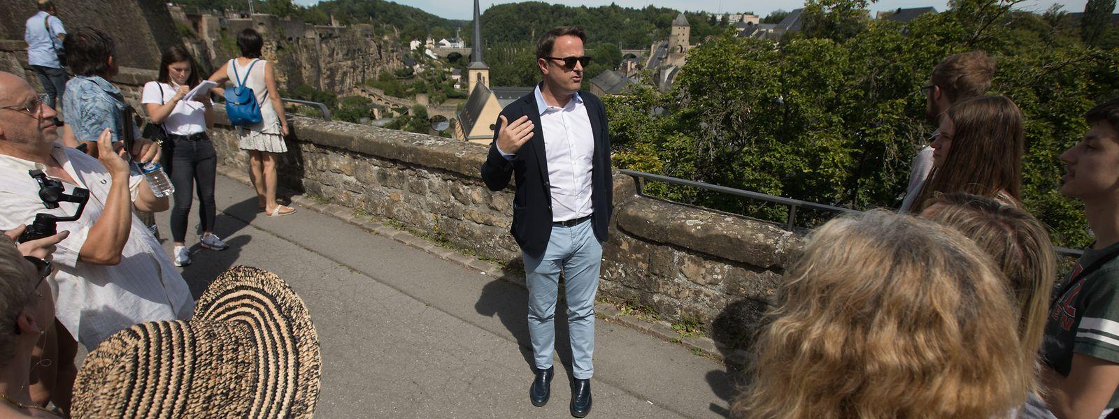 Premierminister Xavier Bettel lud auf einen touristischen Rundgang zu seinen eigenen Lieblingsplätzen in der Hauptstadt ein.