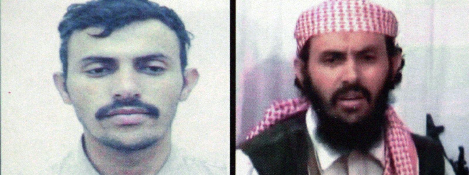 Zwei Bilder zeigen den Terroristenführer Kassim Al-Rimi .