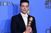 Rami Malek, Meilleur Acteur dramatique aux Golden Globes pour son rôle dans Bohemian Rhapsody où il interprète le chanteur de Queen, Freddy Mercury.