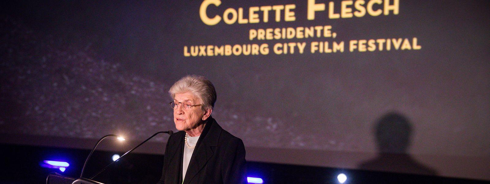Colette Flesch gab im Rahmen der Eröffnung ihren Rückzug als Präsidentin der Festival-Asbl bekannt.