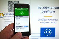 COVIDcheck.lu - certificate, COVID-Zertifikat, EU Digital Covid Certificate, covid check.lu - Foto: John Schmit