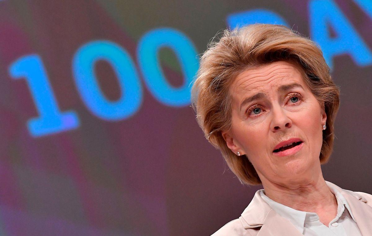 Die Kommissionspräsidentin macht sich über ein Hilfspaket wegen der Corona-Krise Gedanken.