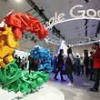 SAN FRANCISCO, CALIFORNIA - MARCH 20: Attendees visit the Google booth at the 2019 GDC Game Developers Conference on March 20, 2019 in San Francisco, California. The GDC runs through March 22.   Justin Sullivan/Getty Images/AFP == FOR NEWSPAPERS, INTERNET, TELCOS & TELEVISION USE ONLY ==