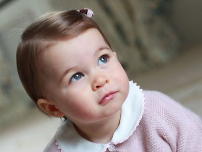 Princess Charlotte of Cambridge at Anmer Hall in the village of Anmer in Norfolk, eastern England, in April, 2016.