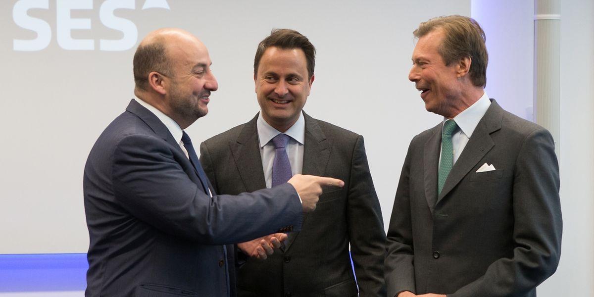 Le grand-duc Henri, le Premier ministre Xavier Bettel et le ministre de l'Economie Etienne Schneider ont fait le déplacement.