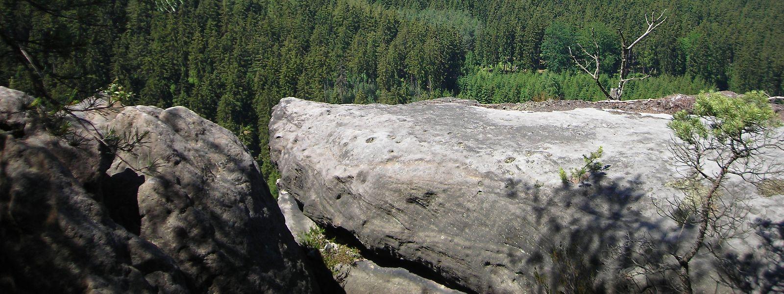Der Unfall geschah auf dem 253 Meter hohen Berg Gamrig in der Sächsischen Schweiz.