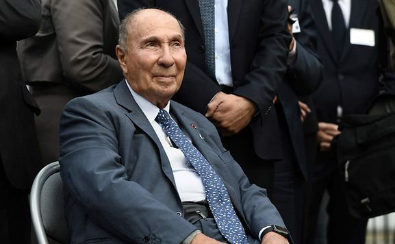 This file photo taken on September 20, 2016 shows CEO of the Dassault group Serge Dassault who faces court over tax fraud charges.