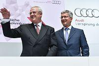 Audi-Chef Rupert Stadler (rechts), hier mit dem ehemaligen Aufsichtsratsvorsitzenden der Audi AG, Martin Winterkorn, gehört jetzt offiziell zum Kreis der Beschuldigten in der Diesel-Affäre.