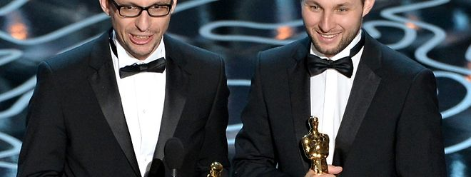 Laurent Witz (l.) und Alexandre Espigares bei der Verleihung in Hollywood.