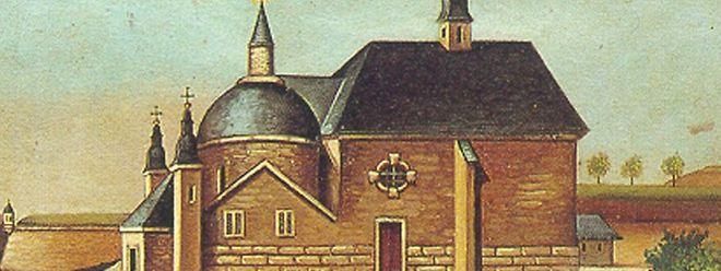 """Ein Bild der """"Neipuertskapell"""" aus dem Jahre 1627."""
