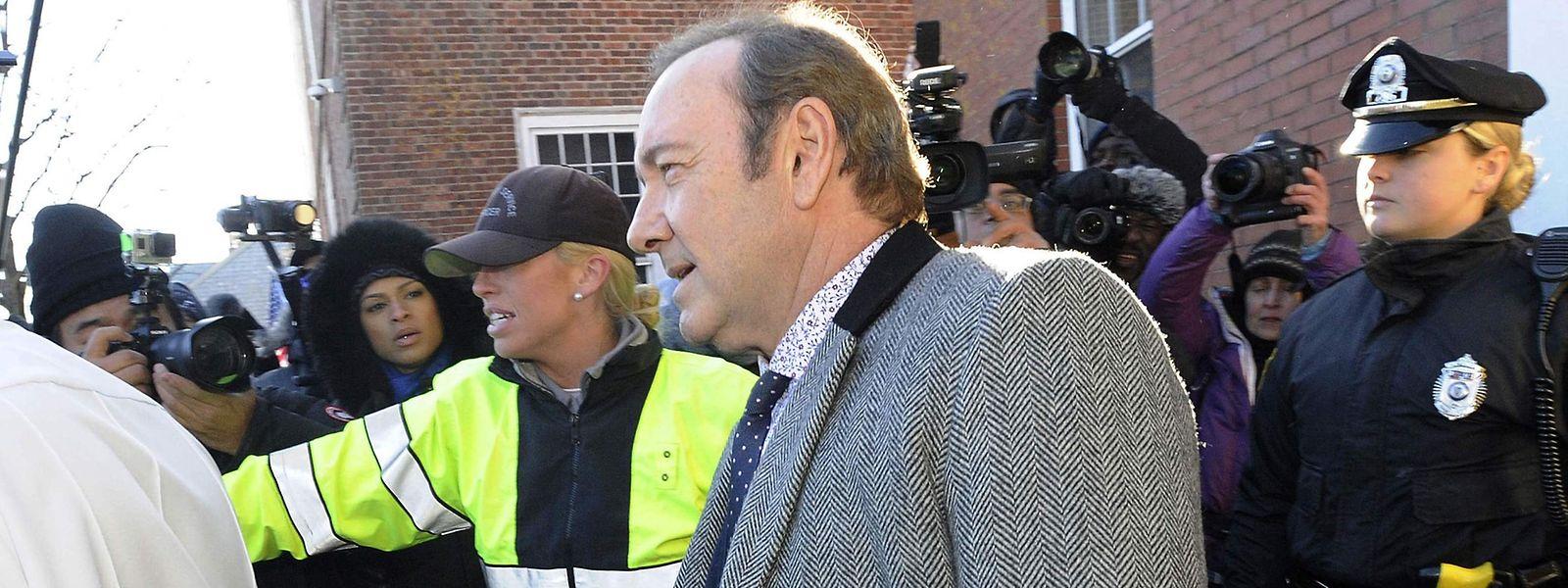 Kevin Spacey erscheint im Januar 2019 vor Gericht in Nantucket, Massachusetts.