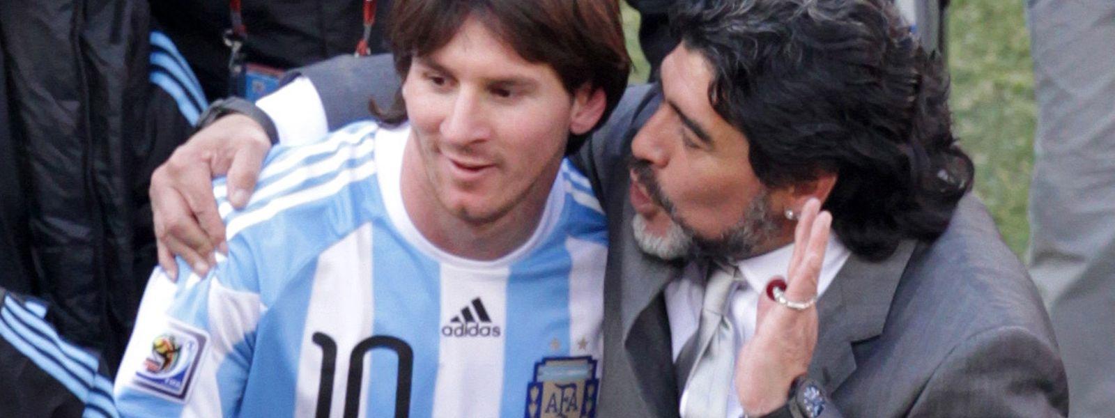 Messi e Diego Maradona