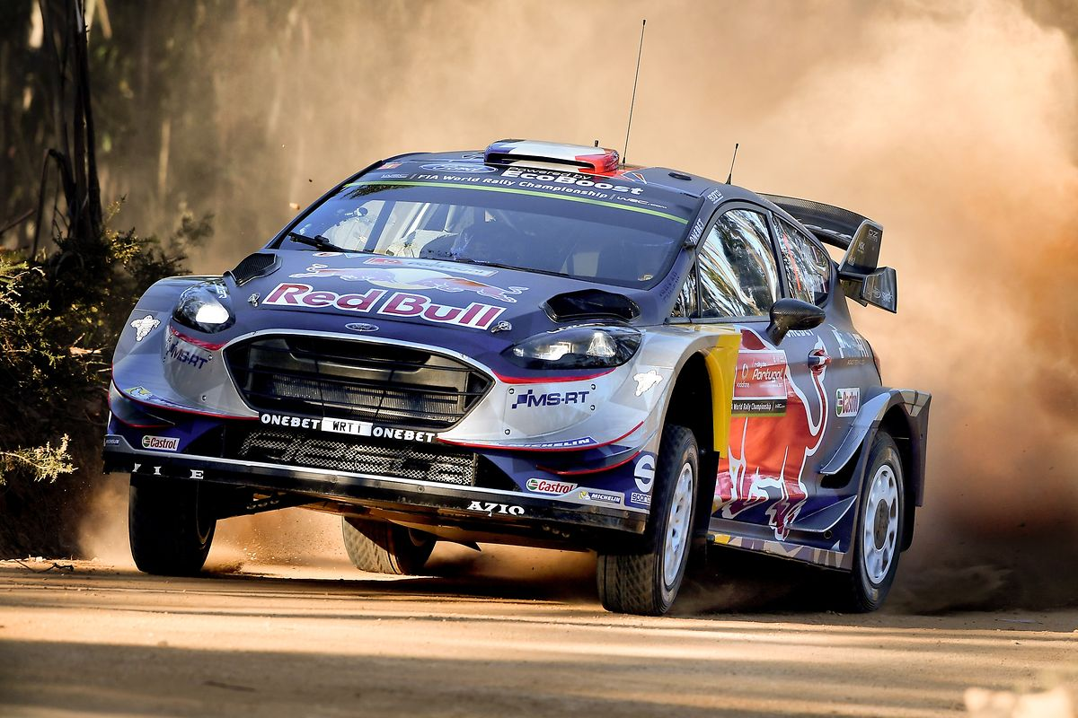 Sebastien Ogier of France drives his Ford Fiesta WRC during the Shakedown of the Rally of Portugal of the World Rally Championship (WRC) in Baltar, Portugal, 18 May 2017. The competition runs from 18th until 21th May. HUGO DELGADO/LUSA