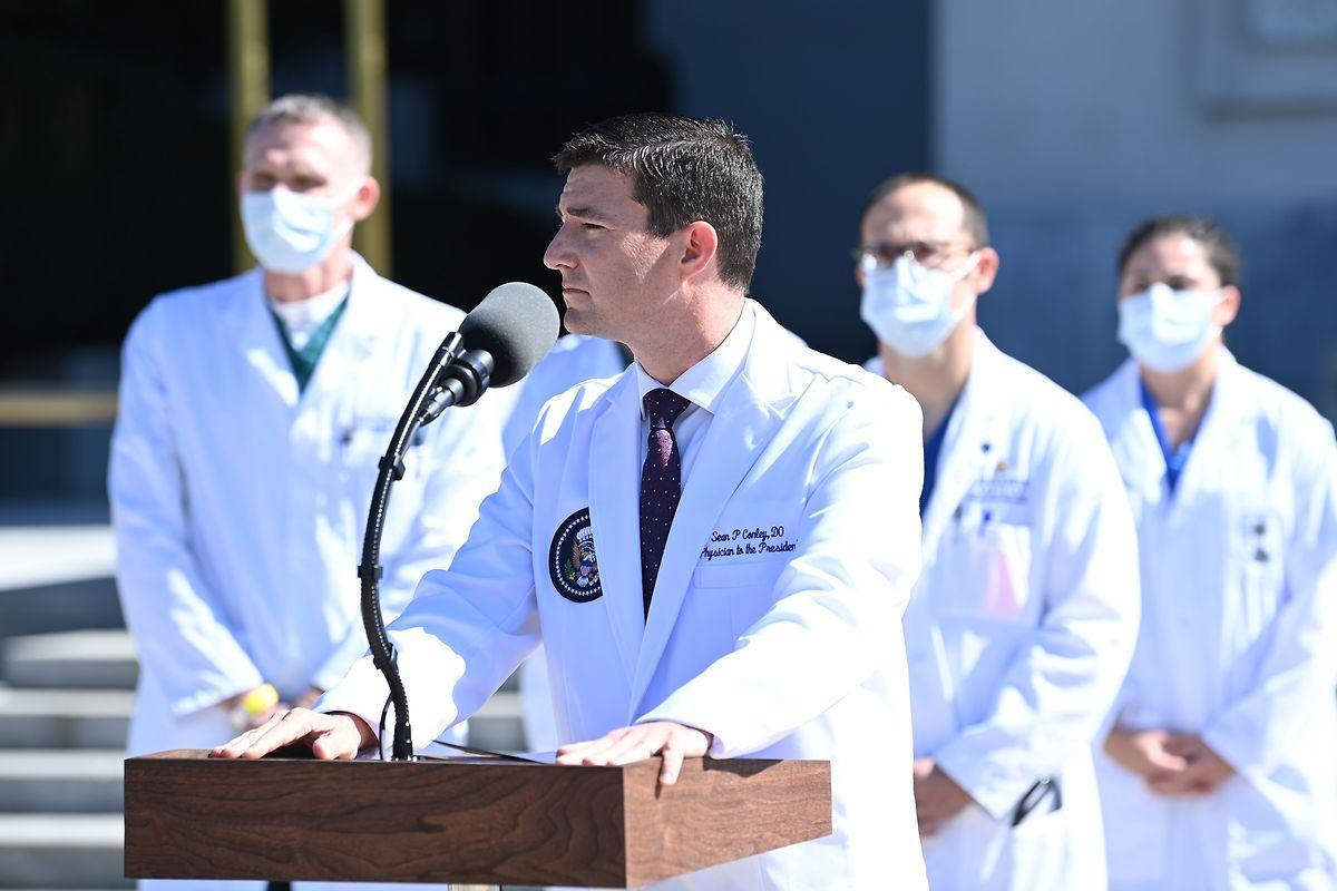 Sean Conley informierte über den Gesundheitszustand de US-Präsidenten.