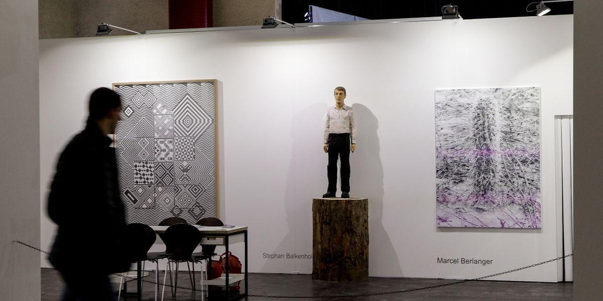 Auch der Organisator Alex Reding stellt seine Galerie Nosbaum Reding und ihre Künstler vor.