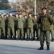 Ein Bataillon der Kosovo-Sicherheitskräfte (KSF), die jetzt zur Armee umgewandelt werden.